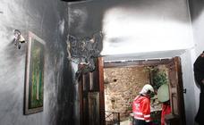 Un rayo impacta en una casa en Cambarco (Liebana)