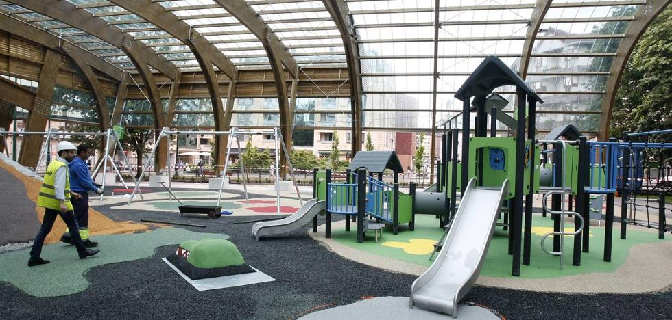La cubierta del parque Manuel Barquín se inaugura el viernes