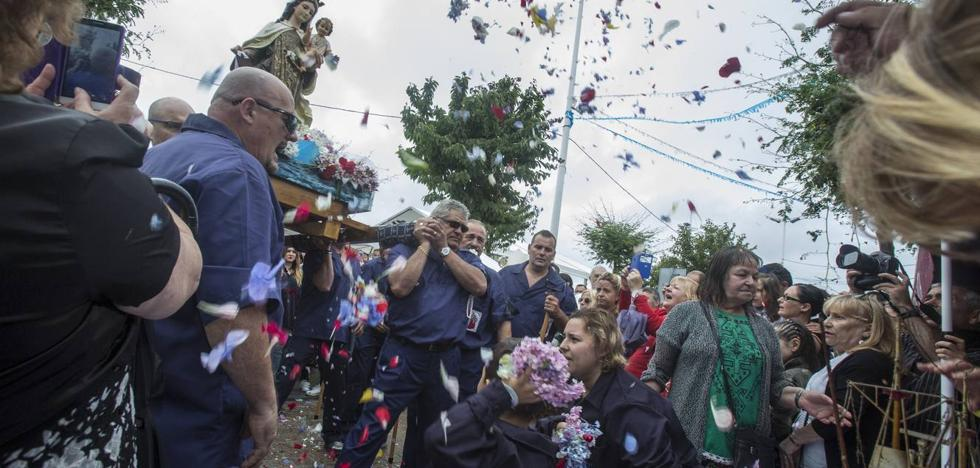 La venerada Virgen del Carmen no se echó a la mar en Santander