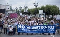 Segunda gran manifestación contra el MetroTUS