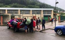 Evacuados por las fuertes lluvias más de trescientos niños que estaban de campamento en Rionansa