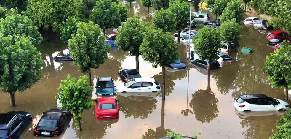 Importantes inundaciones en Santillana del Mar