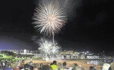 747 kilos de fuegos artificiales para celebrar Santiago