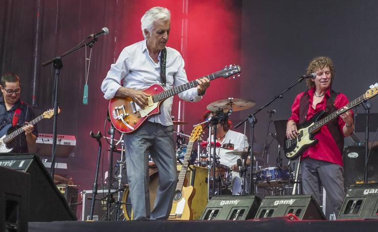 Kiko Veneno y Rubén Blades en los conciertos de La Campa