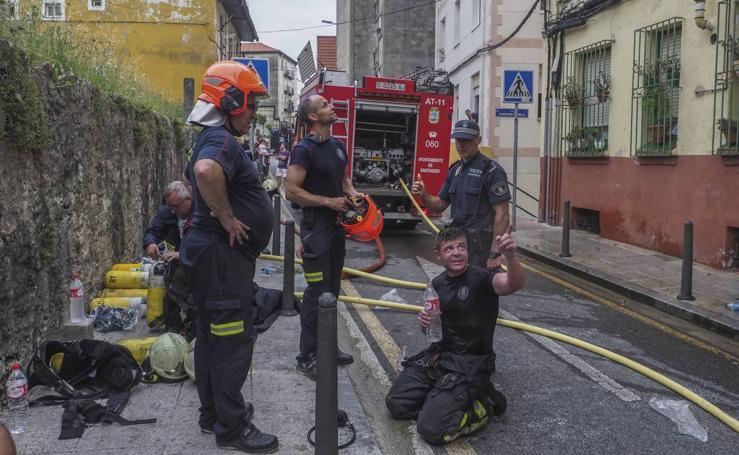 Incendio en la calle San Sebastián de Santander