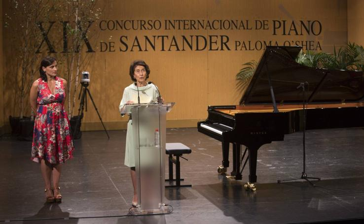 Acto inaugural del XIX Concurso Internacional de Piano de Santander Paloma O´Shea