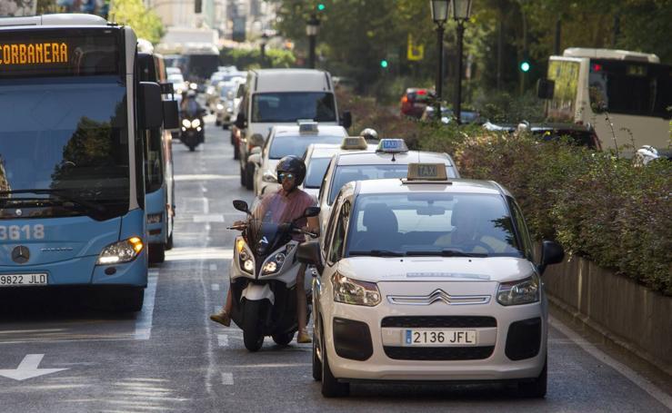 Los taxistas de Cantabria, en huelga