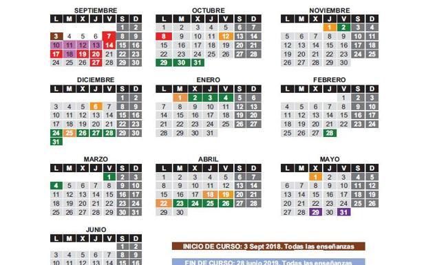 Calendario Escolar 18 19 Cantabria.El Boc Publica El Calendario Escolar Definitivo El Diario