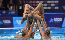 El equipo español de sincronizada se queda sin medalla