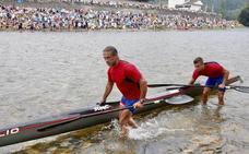 Los cántabros Julio Martínez y Rubén González, segundos en el Sella tras un apretado sprint