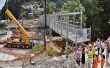 La apertura de la pasarela de Los Corrales se retrasa hasta el miércoles