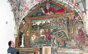 La iglesia de Ledantes recupera sus frescos