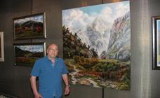 El pintor Joaquín Besoy expone su obra en la Torre del Infantado de Potes