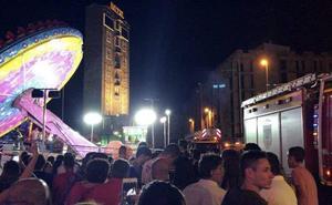 La atracción de las ferias averiada en Torrelavega permanece precintada