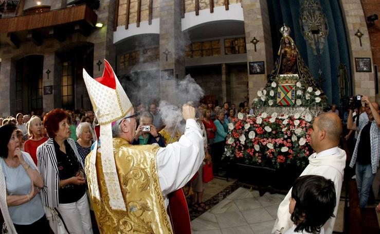 Procesión de la Virgen Grande por Torrelavega