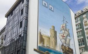 Un mural de 408 metros cuadrados recuerda en Puertochico la gesta del almirante Bonifaz