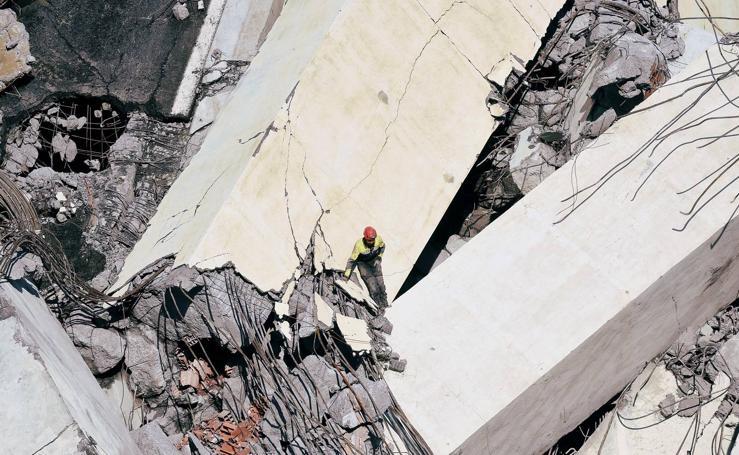 Las imágenes tras el derrumbe