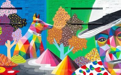 Okuda rejuvenece con su color el paisaje de Valderredible