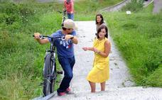 Una canaleta ayudará a subir las bicis en las zonas de escaleras de Las Llamas