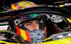 Control de alcoholemia a Carlos Sainz al salir del circuito de Spa
