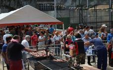 Ginkana de caballos y comida en la bolera de Ojedo en las fiestas de San Tirso
