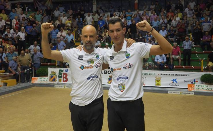Rubén Rodríguez y Víctor González se llevan el Nacional por parejas en Torrelavega