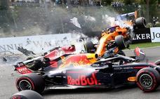 Brutal accidente de Fernando Alonso en Spa-Francorchamps