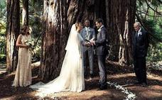 La bucólica boda de Hilary Swank en un bosque