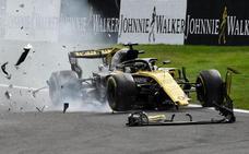 El halo pasa su test definitivo con el accidente de Spa