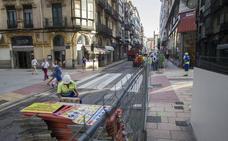 El cierre de la calle Cervantes complica la vida del centro