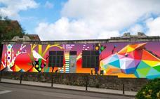 Los padres del colegio Vital Alsar quieren un segundo mural de Okuda