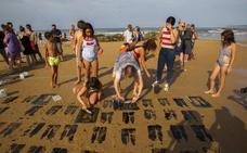 Arte efímero sobre la arena