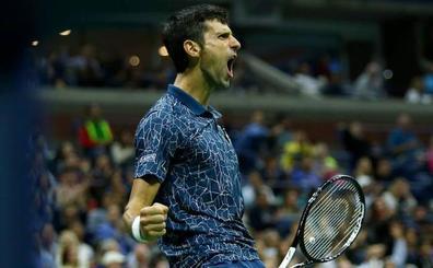 Djokovic saca el puño de hierro e iguala a Sampras