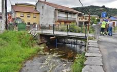 Los Corrales prepara una pasarela peatonal sobre el río Redondo en Somahoz