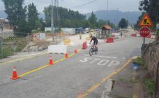 Cambio de trazado en la carretera que une Los Corrales y San Felices