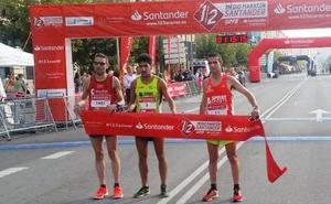Diego Cuadrado e Irene Pelayo ganan la Media Maratón de Santander