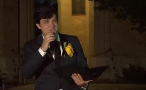 Las emocionadas palabras del novio de Celia Barquín durante el homenaje en la universidad