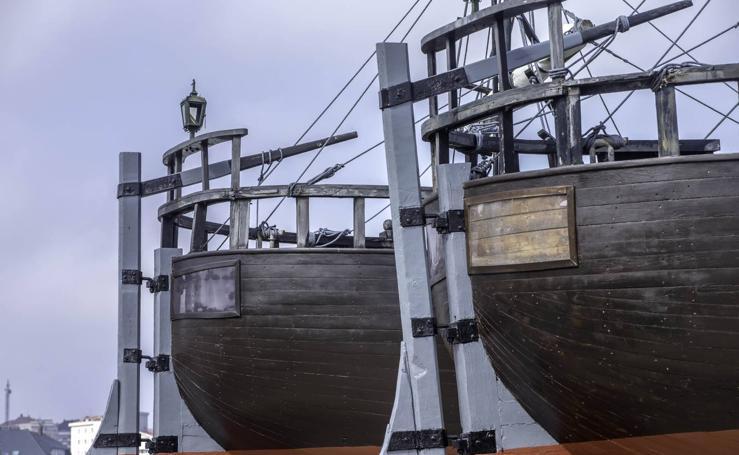 Los tres galeones lucen como nuevos