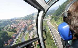 Nueve helicópteros franceses aterrizan en grupo en el Seve Ballesteros