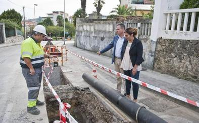 Las obras de renovación del abastecimiento en Bernardo Lavín acabarán a finales de octubre