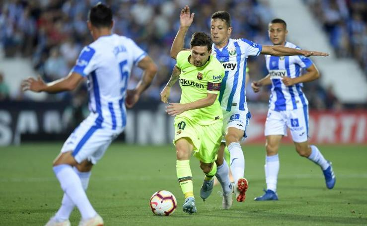 El Leganés-Barcelona, en imágenes
