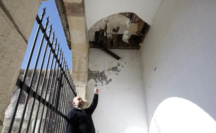 Los desperfectos en la parroquia de San Pelayo de Duález