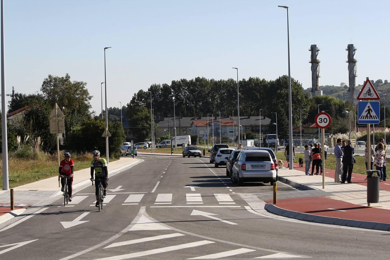 Entra en servicio el nuevo vial entre los pueblos de Ganzo y Duález