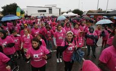 La lluvia no puede con la carrera contra el cáncer de Bezana