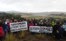 Marcha contra la instalación de la futura depuradora en Cuchía