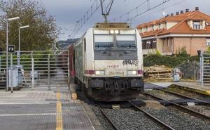 Cortes en el tráfico ferroviario en pleno puente del Pilar por obras en la línea Santander-Palencia