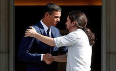 Sánchez e Iglesias ultiman el acuerdo de Presupuestos tras reunirse en Moncloa