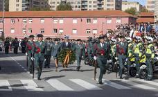 Actos del Día del Pilar en el acuartelamiento de Campogiro