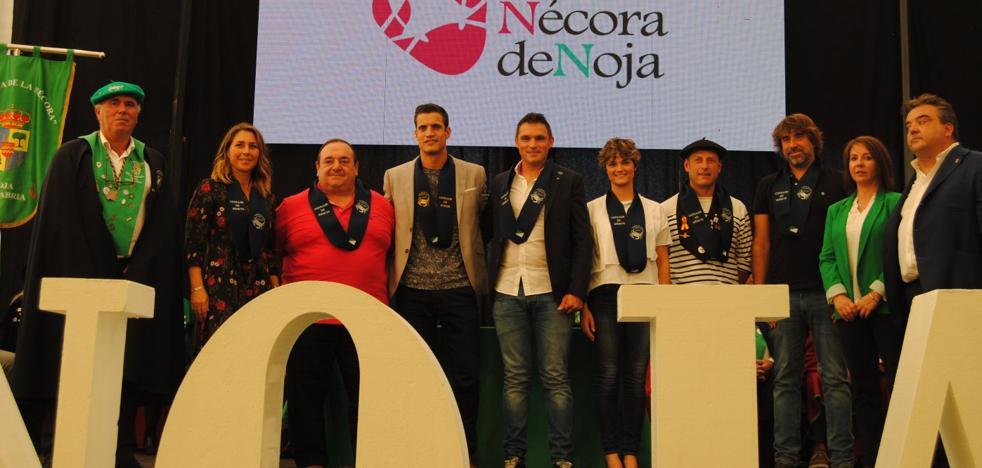 Miguel Cobo, cofrade de honor de la Nécora de Noja