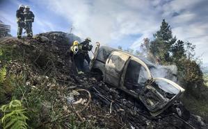 Atropella a una niña y luego quema y despeña su furgoneta para eliminar pruebas